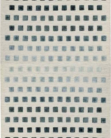 Koberec Asiatic Carpets Theo Silvery Squares, 160 x 230 cm