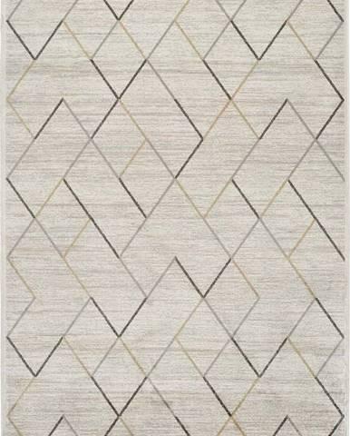Krémový koberec z viskózy Universal Belga, 100 x 140 cm