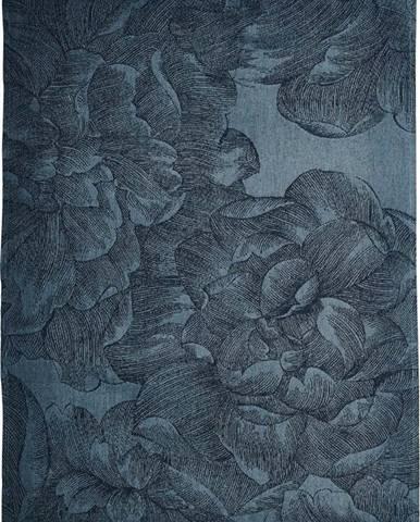 Modrá kuchyňská utěrka z bavlny Södahl Rose, 50x70cm