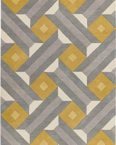 Šedo-žlutý koberec Asiatic Carpets Motif, 160 x 230 cm