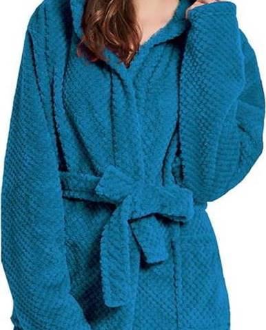 Tmavě modrý unisex župan z mikrovlákna DecoKing Sleepyhead, velikost S