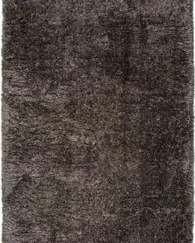 Tmavě šedý koberec Universal Floki Liso, 80x150cm