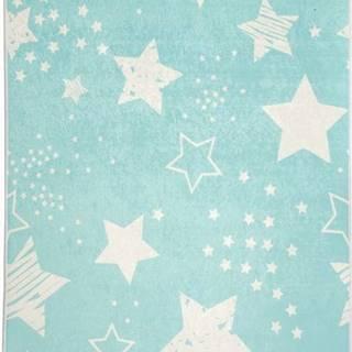 Modrý dětský protiskluzový koberec Chilai Star,100x160cm
