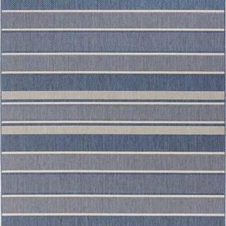 Modrý venkovní koberec Bougari Strap, 160x230cm