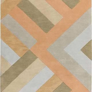 Šedo-lososový koberec Asiatic Carpets Big Zig, 160 x 230 cm