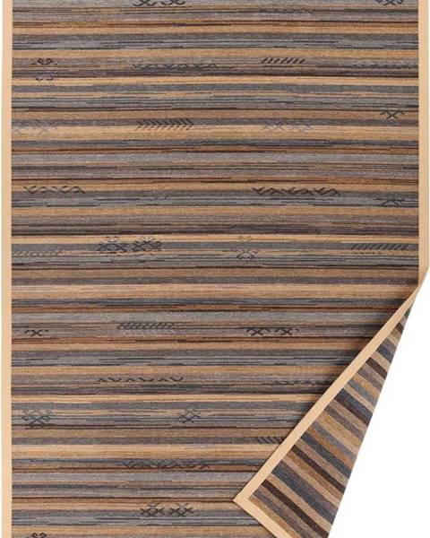 Narma Béžový vzorovaný oboustranný koberec Narma Liiva, 140 x 200cm