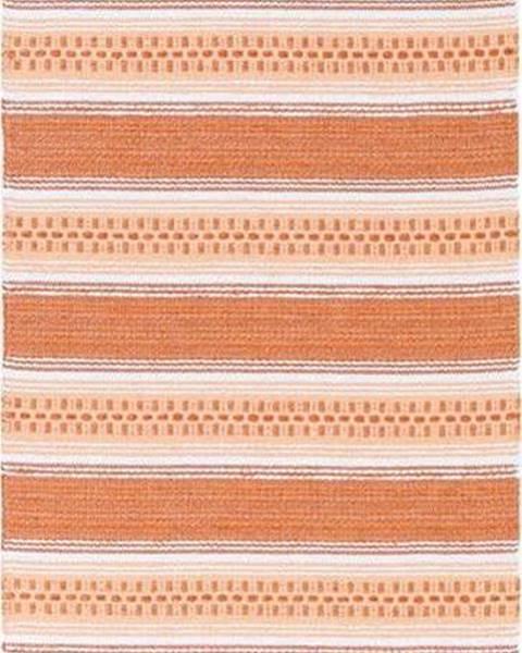 Narma Oranžový běhoun vhodný do exteriéru Narma Runo, 70x200cm