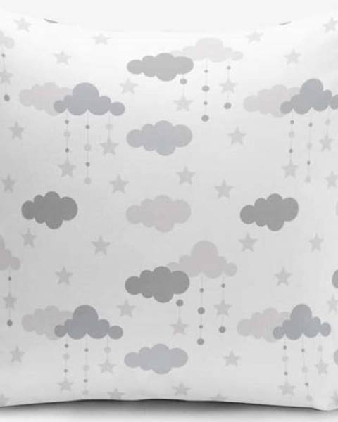 Minimalist Cushion Covers Povlak na polštář s příměsí bavlny Minimalist Cushion Covers Grey Clouds, 45 x 45 cm