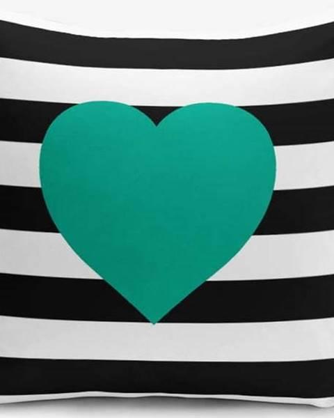 Minimalist Cushion Covers Povlak na polštář s příměsí bavlny Minimalist Cushion Covers Striped Green,45x45cm