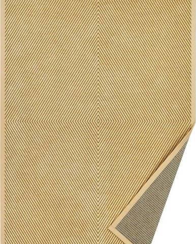 Béžový vzorovaný oboustranný koberec Narma Vivva, 250x80 cm