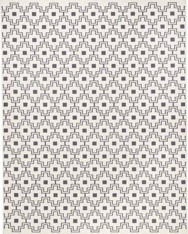 Černobílý koberec Zala LivingCubic, 200x290cm