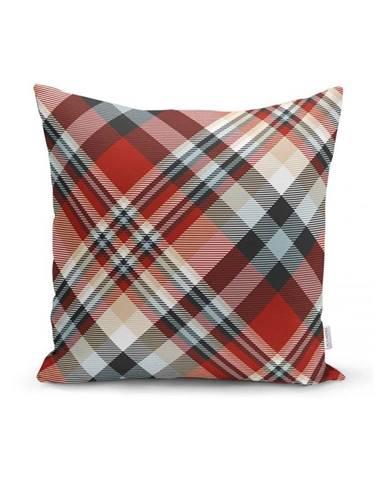 Červený dekorativní povlak na polštář Minimalist Cushion Covers Flannel,35x55cm