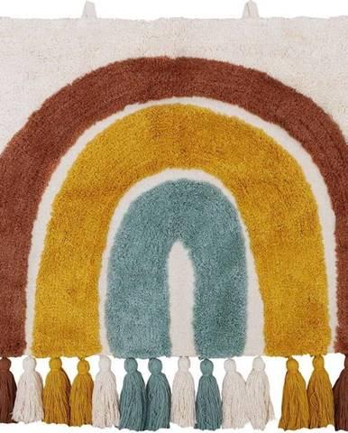 Dětský bavlněný nástěnný koberec Nattiot Rainbow,50x80cm