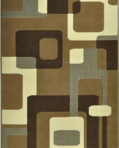 Hnědý koberec Hanse Home Hamla Retro, 80x300cm