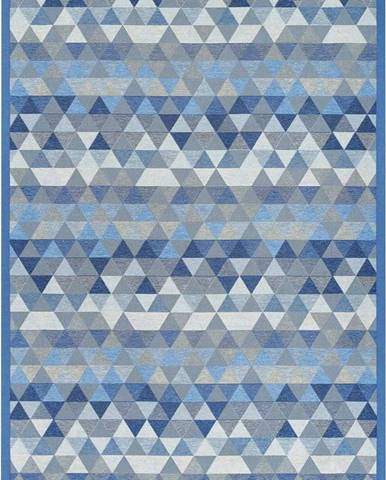 Modrý oboustranný koberec Narma Luke Blue, 70 x 140 cm