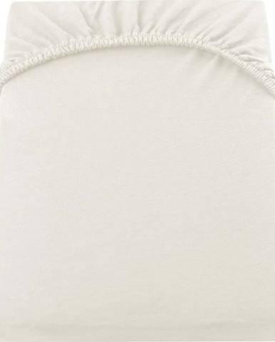 Světle krémové elastické prostěradlo DecoKing Nephrite, 160/180 x 200 cm