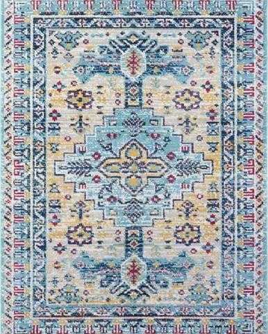 Světle modrý koberec Nouristan Agha, 160 x 230 cm