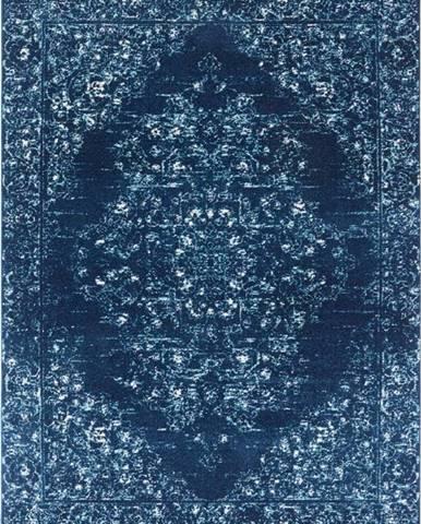 Tmavě modrý koberec Nouristan Pandeh, 80 x 150 cm
