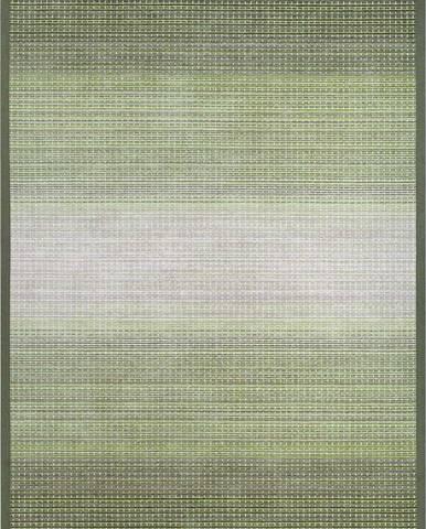 Zelený oboustranný koberec Narma Moka Olive, 80 x 250 cm