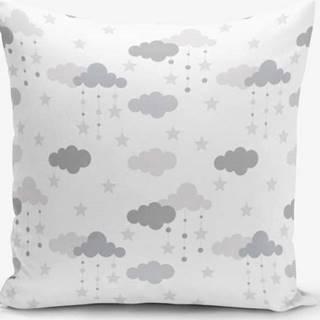 Povlak na polštář s příměsí bavlny Minimalist Cushion Covers Grey Clouds, 45 x 45 cm