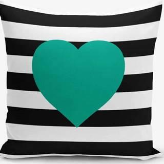 Povlak na polštář s příměsí bavlny Minimalist Cushion Covers Striped Green,45x45cm