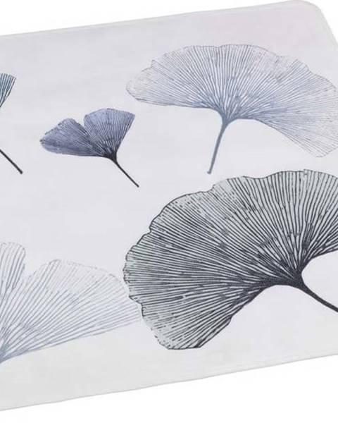 WENKO Bílo-modrá koupelnová podložka Wenko Ginkgo, 54x54cm