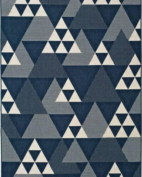 Universal Modrý venkovní koberec Universal Clhoe Triangles, 120 x 170 cm
