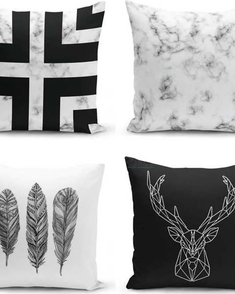 Minimalist Cushion Covers Sada 4 povlaků na polštáře Minimalist Cushion Covers Faria, 45 x 45 cm