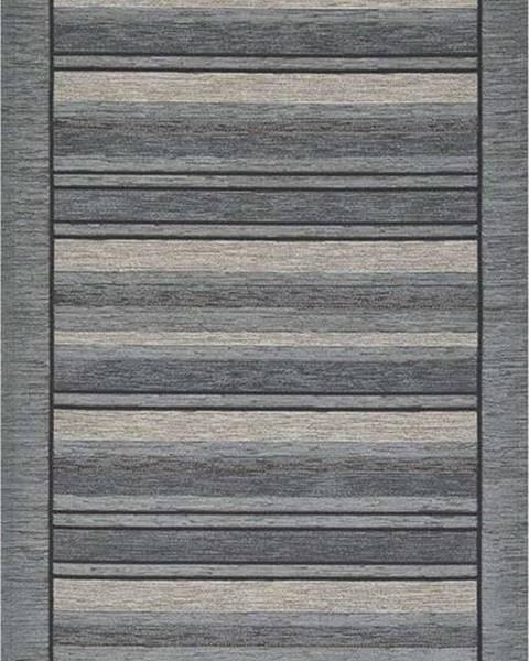 Floorita Šedý běhoun Floorita Velour, 55 x 140 cm