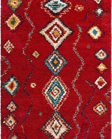 Červený koberec Mint Rugs Geometric, 160x230cm