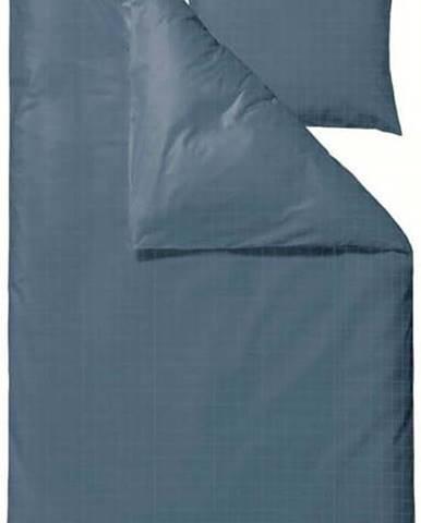 Modré damaškové povlečení na jednolůžko Södahl Clear,140x220cm