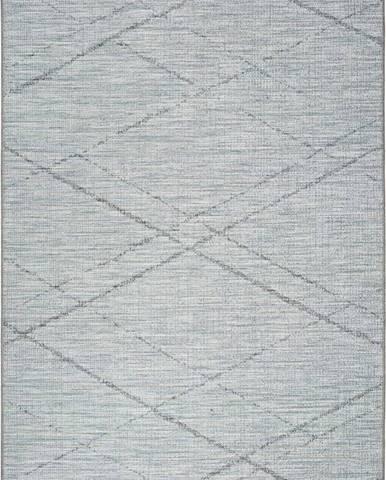 Modrošedý venkovní koberec Universal Weave Cassita, 77 x 150 cm