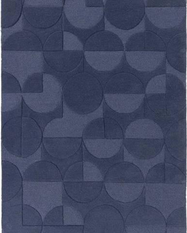Modrý vlněný koberec Flair Rugs Gigi, 120 x 170 cm