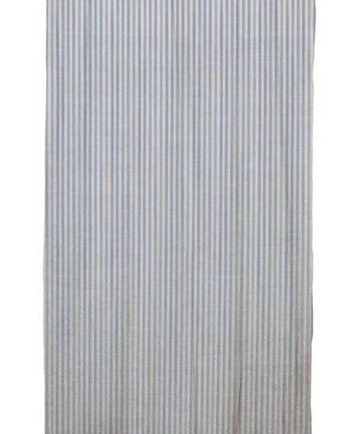 Modrý závěs Linen Cuture Cortina Hogar Blue Marine Stripes