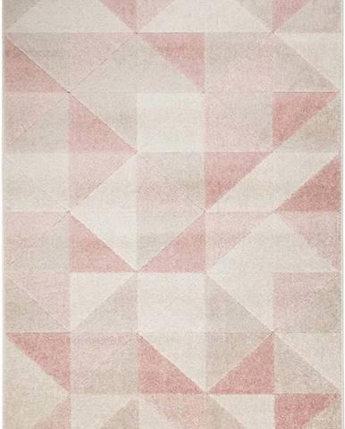 Růžový koberec Flair Rugs Urban Triangle, 200 x 275 cm