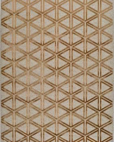 Šedo-oranžový koberec Universal Lana Triangle, 120 x 170 cm