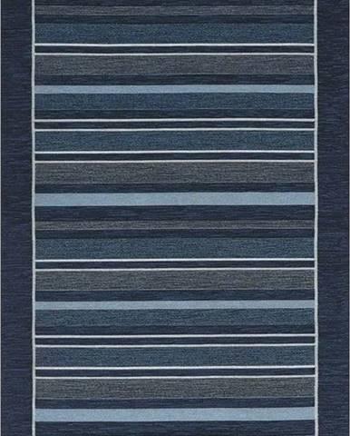 Tmavě modrý běhoun Floorita Velour, 55 x 115 cm