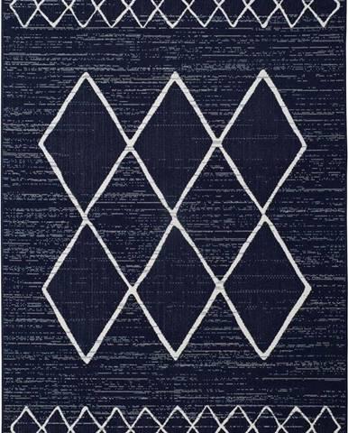 Tmavě modrý venkovní koberec Universal Elba, 160 x 230 cm
