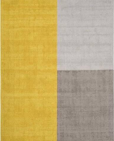 Žluto-šedý koberec Asiatic Carpets Blox, 160 x 230 cm