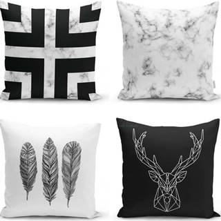 Sada 4 povlaků na polštáře Minimalist Cushion Covers Faria, 45 x 45 cm