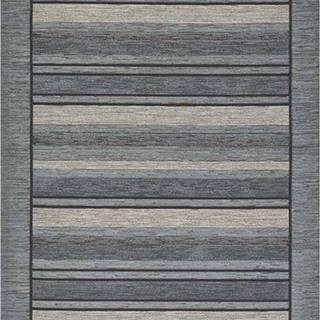 Šedý běhoun Floorita Velour, 55 x 140 cm