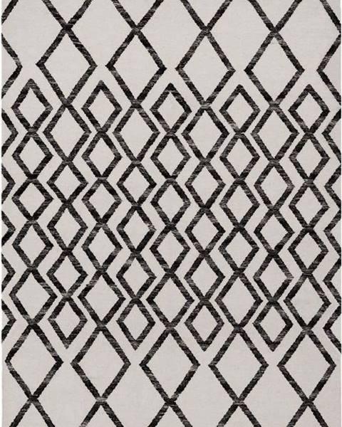 Asiatic Carpets Béžovo-černý koberec Asiatic Carpets Hackney Diamond, 160 x 230 cm