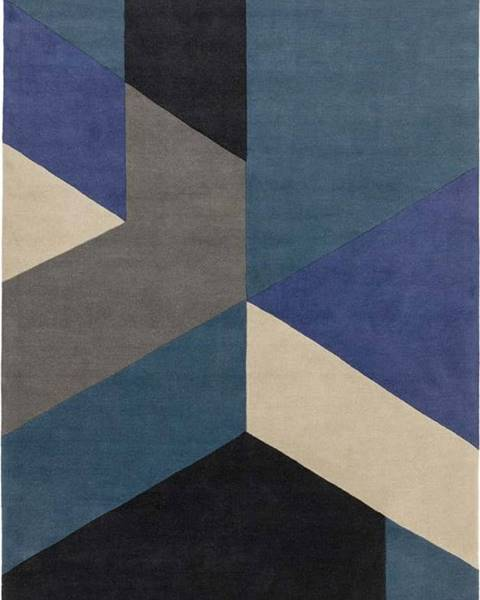 Asiatic Carpets Modrý koberec Asiatic Carpets Big Geo, 200 x 290 cm