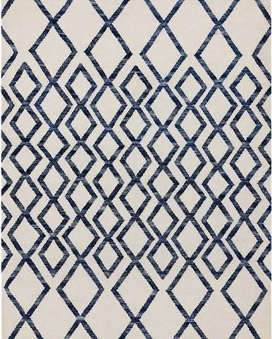 Béžovo-modrý koberec Asiatic Carpets Hackney Diamond, 160 x 230 cm