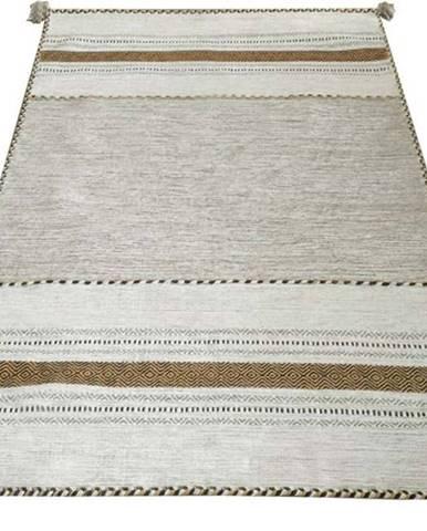 Béžový bavlněný koberec Webtappeti Antique Kilim, 60 x 90 cm
