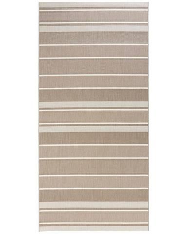Béžový venkovní koberec Bougari Strap, 80x200cm