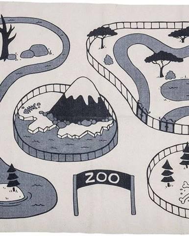 Dětský bavlněný koberec Bloomingville ZOO, 155 x 100 cm