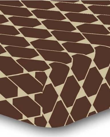 Elastické prostěradlo z mikrovlákna DecoKing Rhombuses, 200 x 220 cm
