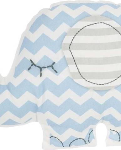 Modrý dětský polštářek s příměsí bavlny Mike&Co.NEWYORK Pillow Toy Elephant, 34 x 24 cm
