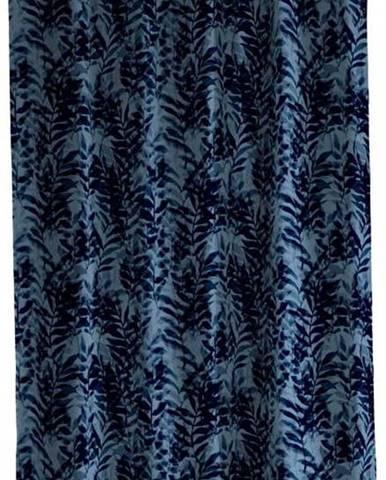 Modrý sprchový závěs Södahl Leaves, 180x200cm